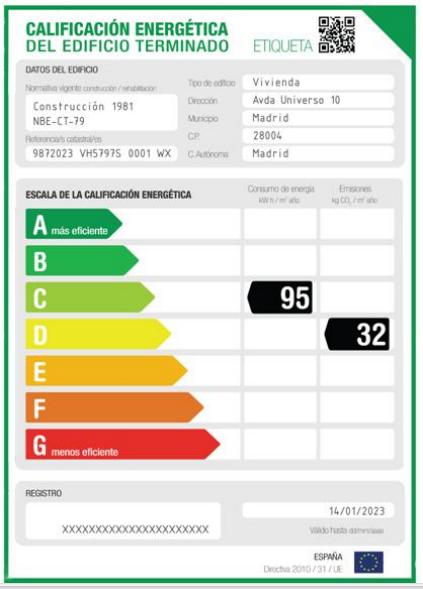 Documentación certificado energético alquiler o venta